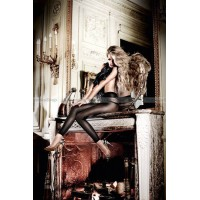 Beauty Inside The Beast Колготки черные леггинсыOS (4246)