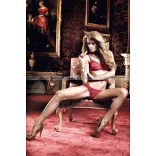 Have Fun Princess Комплект бордовый бикини из Бюстгальтера и трусиков в горошек; ML