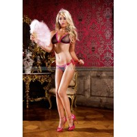 Barbie Комплект белья OS (4246), черный/розовый