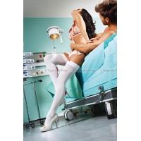 Чулки Emergency Room Nurse высокие белые (4246)