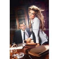 Игровой костюм СУПЕР СЕКРЕТЕРША: блузка, юбка, галстук