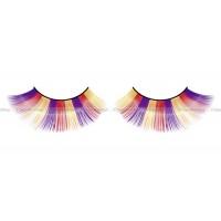 Ресницы фиолетовооранжевожелтые