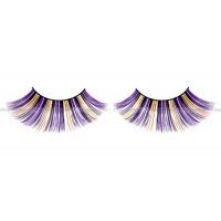 Ресницы фиолетовочерножелтые