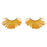 Ресницы оранжевые  перья