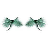 Ресницы бирюзовые  перья