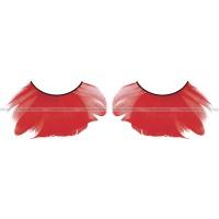 Ресницы красные  перья