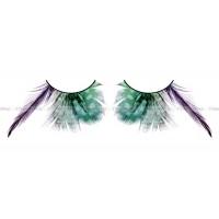Ресницы зелёные  перья