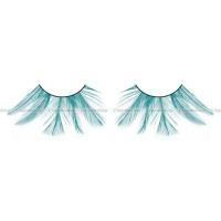 Ресницы голубые  перья