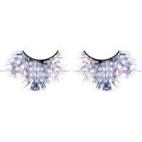 Ресницы светлые синефиолетовые  перья