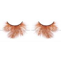 Ресницы оранжевокрасные  перья