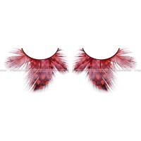 Ресницы тёмнокрасные  перья