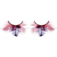Ресницы краснофиолетовые  перья