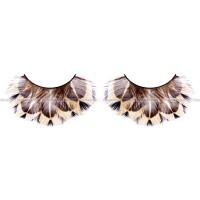 Ресницы бежевокоричневые  перья