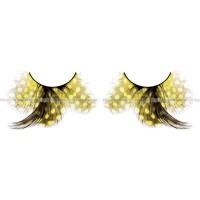 Ресницы жёлтые  перья