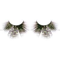 Ресницы светлозелёные  перья