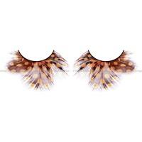 Ресницы жёлтокоричневые  перья