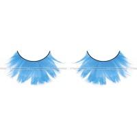 Ресницы светлоголубые  перья