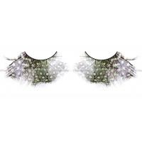 Ресницы коричневозелёнофиолетовые  перья