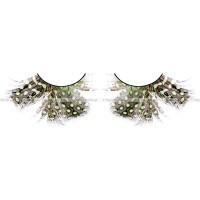 Ресницы тёмнозеленые  перья