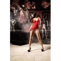 Deeper in Hell Платьице красное платьице из тюлевой ткани с точечками и Gстрингами
