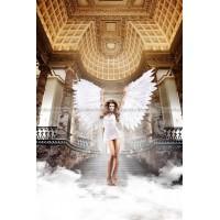 Back in Heaven Платьице белое из тюлевой ткани с косточками и мягкими чашечками; ML