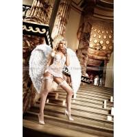 Back in Heaven Бюстье белый кружевное с косточками и светлорозовыми бантиками