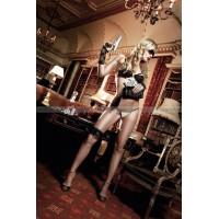 Agent Of Love Комплект бикини светлобежевый  с черными кружевными элементами и косточками; ML