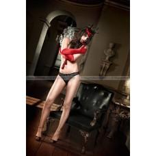 Agent Of Love Трусики черные с вышивкой; ML