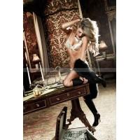 Agent Of Love Бюстгальтер цвета слоновой кости с кружевными элементами и косточками, 34 D
