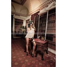 Agent Of Love Пеньюар кружевной цвета слоновой кости со шнурками сзади