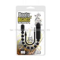 Анальная виброцепочка Booty Beads Black черная