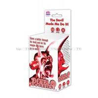 Виброкольцо Diablo Cockring эрекционное красное
