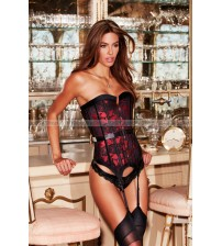 Корсет Satin and Lace Corset , красный, р-р L