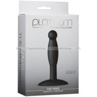 Анальная пробка Platinum Premium Silicone  The Mini's  Smooth Medium  Black M черная