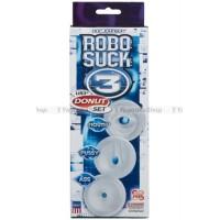 Набор уплотнителей для помпы Robo Suck 3  UR3 Donut Set  Pussy, Mouth, Ass прозрачные