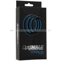 Набор узких эрекционных колец OPTIMALE 3 CRing Set Thick черный