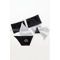 Галстукфиксация Satin Restraint Wrist Tie черный с серым