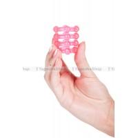 Эрекционное кольцо широкое SILICON RING розовое