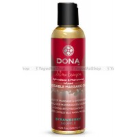 Вкусовое массажное масло  DONA Kissable Massage Oil Strawberry Souffle 125 мл