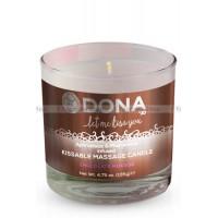 Вкусовая массажная свеча DONA Kissable Massage Candle Chocolate Mousse 135 г