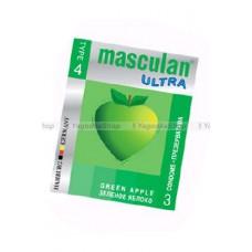 Masculan Ultra 4,  3 шт. *16 GREEN Apple зелёный презервативCD