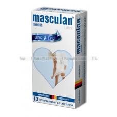Masculan Ultra 2,  10 шт. *10  Ультра тонкие с обильной смазкой