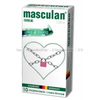 Masculan Ultra 4,  10 шт. *10 Ультра прочный  с обильной смазкой (Ultra strong)