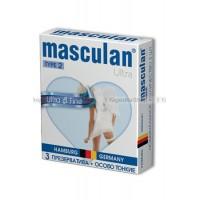 Masculan Ultra 2,  3 шт. *16  Ультра тонкие с обильной смазкой