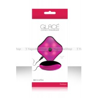 Виброяйцо GLACE CUTIES со светящимся пультом розовое