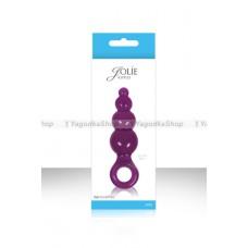 Анальная елочка Jolie  Ripples малая фиолетовая
