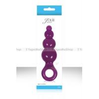 Анальная пробка Jolie  Ripples большая фиолетовая