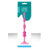 Анальная елочка ASPIRE' PLEASURE BEADS на присоске розовая