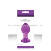 Анальная пробка CRYST'AL PLUG средняя из стекла фиолетовая