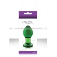 Анальная пробка CRYST'AL PLUG средняя из стекла зеленая